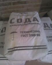 Сода кальцинированная марка Б,  в.с,  мешки по 40кг